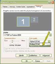 تغییر دادن تنظیمات صفحه نمایش