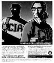 affiche destinée au recrutement d'agents par la cia