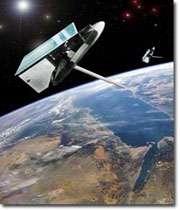 ماهواره بر فراز زمین