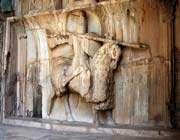 statue équestre de khosro ii