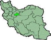 carte montrant la position de la province de qom en iran