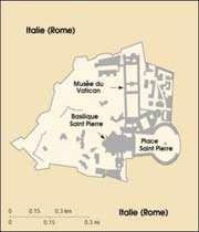 carte de la cité du vatican