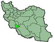 cette carte montre la position de la province de  kohkiluyeh et boyer ahmad