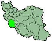 cette carte montre la position de la province du  khuzestan