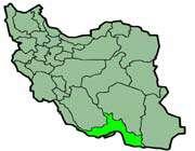 cette carte montre la position de la province de hormozgan