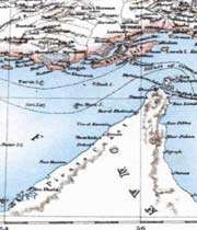 partie d'une carte de perse montrant le détroit d'hormoz
