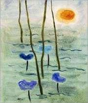 une peinture de sohrab sepehri