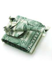 un tank-tigré de dollar papier