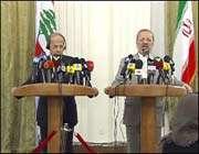 منوتشهر متكي ورئيس كتلة التغيير والاصلاح البرلمانية في لبنان
