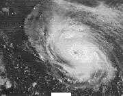 عکس ماهواره ای از هاریکن