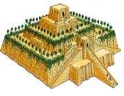 reconstitution de la ziggurat d'ur, irak, -xxie s.