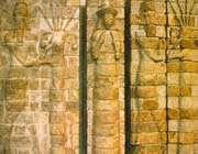 hommes-taureaux et déesses d'intercession. mur de briques moulées, suse, ~xiie s.