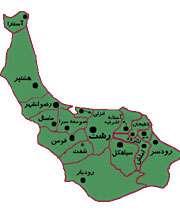 نقشه استان گيلان