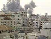 image de l'offensive aérienne israélienne à gaza, le 28 décembre 2008