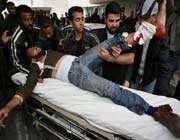 man rushing to hospital