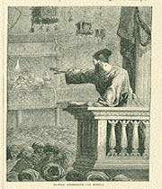 un orateur sur le minbar