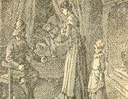 jeanine ouvrant les rideaux, et montrant les enfants a son mari