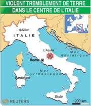 violent tremblement de terre dans le centre de l'italie