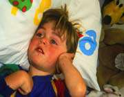 child with pain in his ear