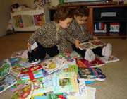 babies with books