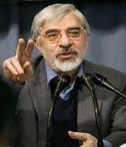 le candidat vaincu mir husain mousavi