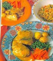 مرغي اور سبزي