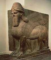 human head winged lion
