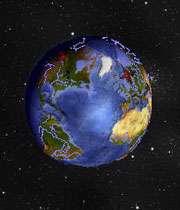 نقشه جهان سه بعدی