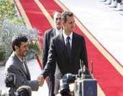 mahmoud ahmadinejad et bashar al-assad