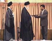 مراسم تنفیذ حکم آقای احمدىنژاد سال 84
