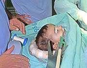 patient child in gaza