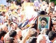 funeral ceremony for seyyed abdul aziz hkim in tehran