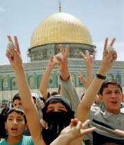 aqsa mosque & palestinian children