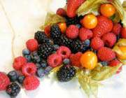 delicious and colorful berries