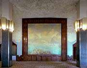 mural painting in dining room