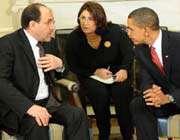 باراك أوباما و نوري المالكي