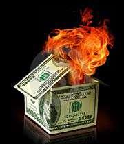 le dollar brûle