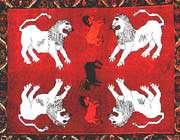 four lion design gabbeh