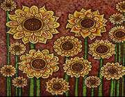 tapestry, sunflower