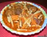 خورش آلو و هویج