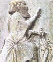 picture of dariush in bistoon inscription