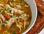 چکن نوڈلز سوپ