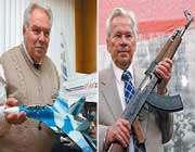 دو تن از برترین طراحان نظامی روسیه، سیمونف و کالاشنیکف