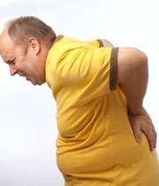 مرد چاق مبتلا به کمردرد