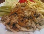 شاورما الدجاج اللذيذة