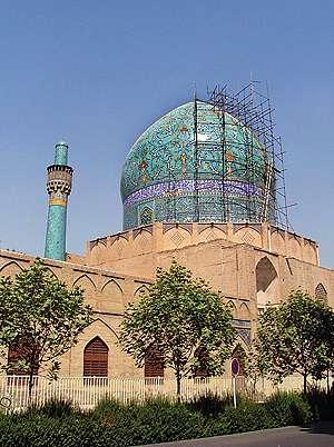 مسجد چهاباغ اصفهان شیخ بهایی سازه ای خاص ساختمان روی لجنزار زاینده رود