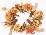 dried fruit and spices wreath