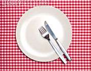 حذف وعده غذایی، بشقاب خالی