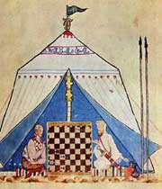 jeu d'échecs entre un chrétien et un musulman andalou
