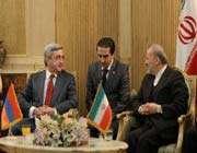 le président arménien et manouchehr mottaki